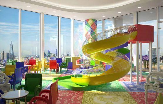 детская площадка в новостройке Лондон