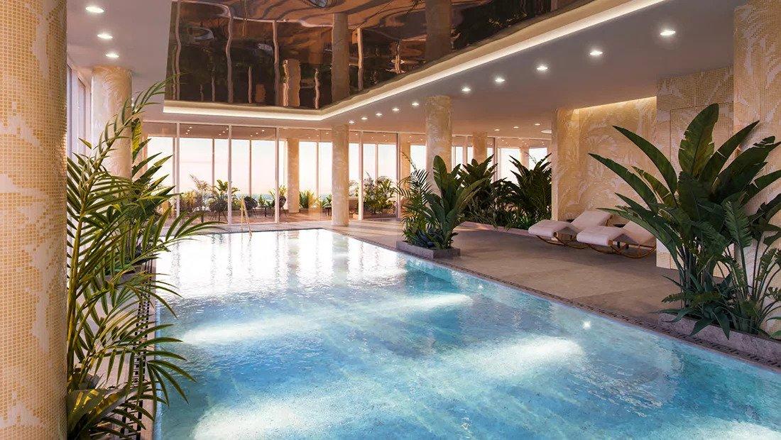 бассейн в элитной новостройке Лондона