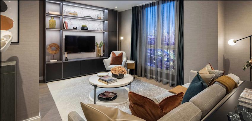 гостиная квартира в лондоне